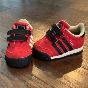 Red Adidas Samoa Sneakers